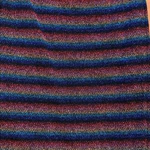 Topshop Dresses - Striped metallic tube dress